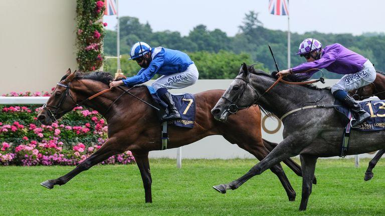 Hukum wins the King George V Stakes at Royal Ascot last year
