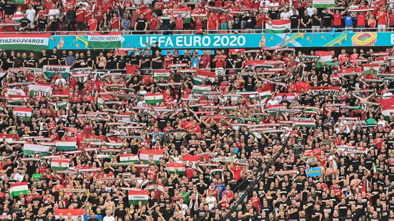 Hungary played in front of a full-capacity crowd against Portugal in Budapest