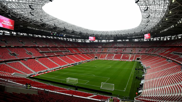 Budapest and the Puskas Arena are the only Euro 2020 host venue to allow full crowds for games