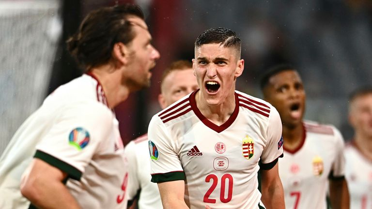 Hungary celebrate against Germany
