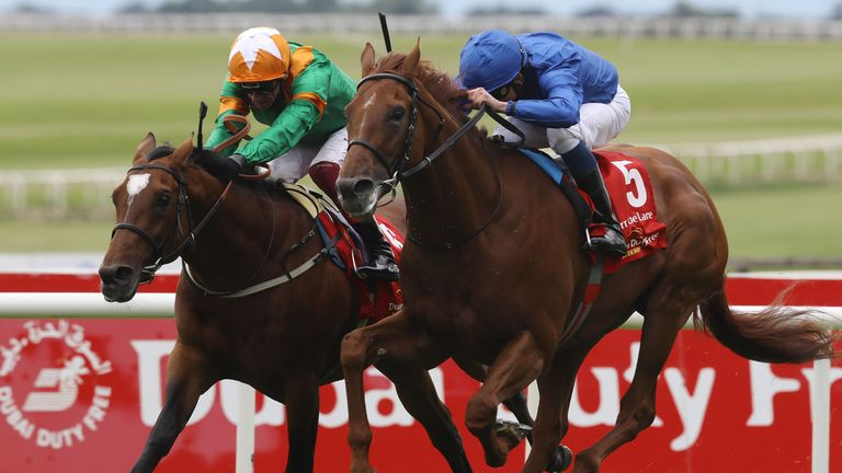 Hurricane Lane gets up late on to deny Lone Eagle in the Irish Derby at the Curragh