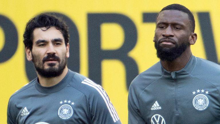 Ilkay Gundogan and Antonio Rudiger could miss Tuesday's crucial last 16 tie