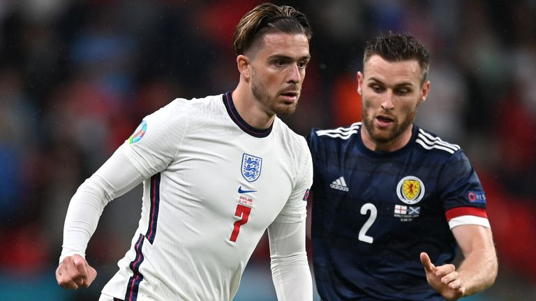 Jack Grealish came on for Phil Foden in second half