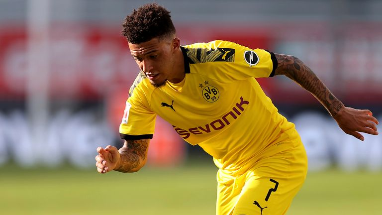 AP - Jadon Sancho in action for Borussia Dortmund