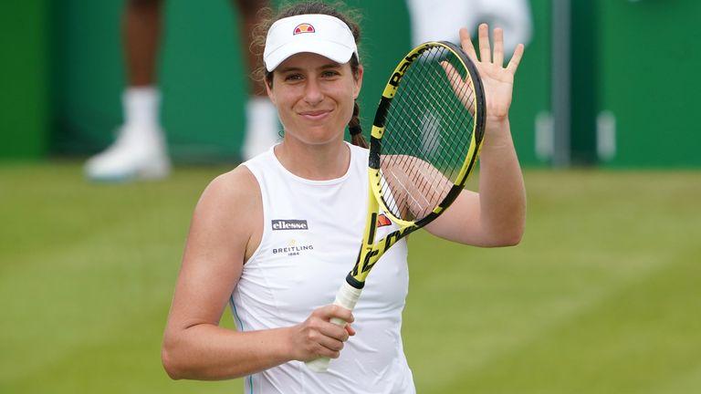 Johanna Konta s'est qualifiée pour un quart de finale avec Alison Van Uytvanck