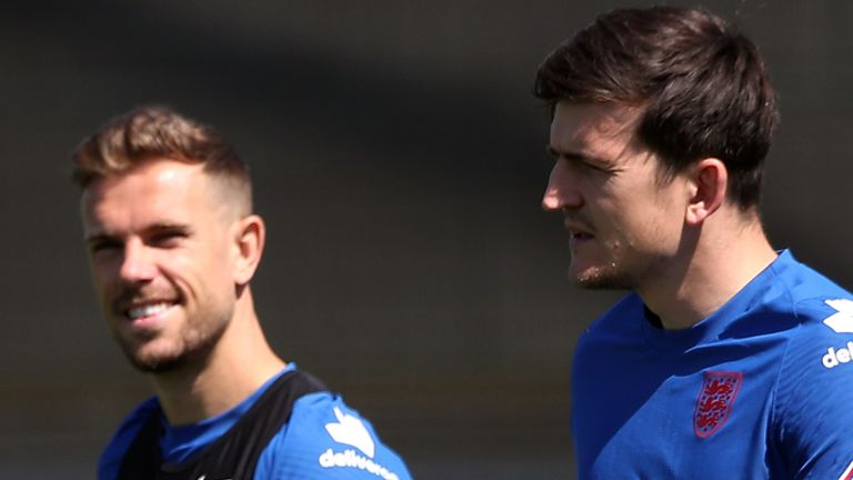 Jordan Henderson (left) and Harry Maguire are hoping to make their Euro 2020 debuts against the Czech Republic (PA)