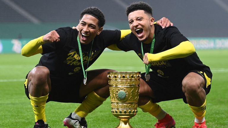 Jude Bellingham and Jadon Sancho won the DFB-Pokal together at Borussia Dortmund this season