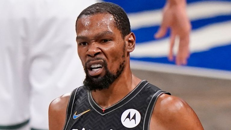 How will Kevin Durant fare without James Harden and Kyrie Irving? (AP)