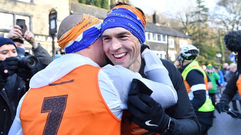 Kevin Sinfield  completes his final marathon of seven marathons in seven days fundraising challenge in support of his former team-mate Rob Burrow and the Motor Neurone Disease Association.