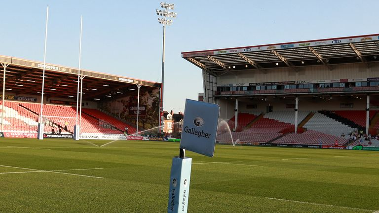 The match between Gloucester and Bath was due to be staged at Kingsholm on Saturday