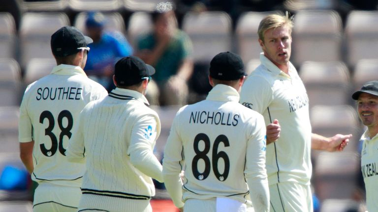 New Zealand seamer Kyle Jamieson recorded magnificent match figures of 7-61 from 46 overs