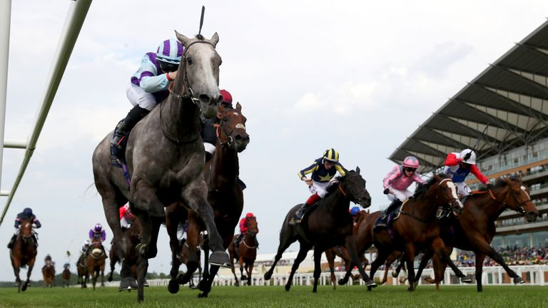 Pearson rides Lola Showgirl to victory in the Kensington Palace Stakes at Royal Ascot