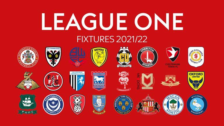 Sky Bet League One Fixtures 2021/22