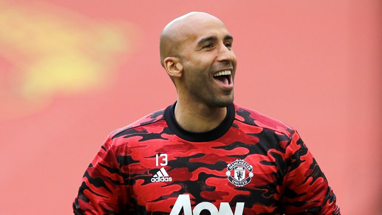 Lee Grant, 38, is yet to make a Premier League appearance for Manchester United