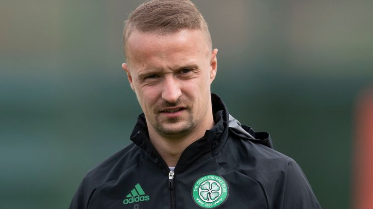 GLASGOW, SCOTLAND - MAY 11: Celtic Forward Leigh Griffiths  during a Celtic training session at Lennoxtown on May 11, 2021, in Glasgow, Scotland. (Photo by Craig Foy / SNS Group)