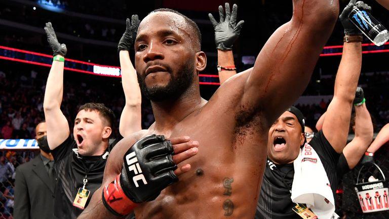 Leon Edwards is named winner at UFC 263 (Photo by Jeff Bottari/Zuffa LLC via Getty Images)