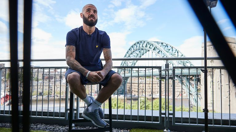*** FREE FOR EDITORIAL USE ***.Ritson v Ponce Media Day.9 June 2021.Lewis Ritson during todays Media Day