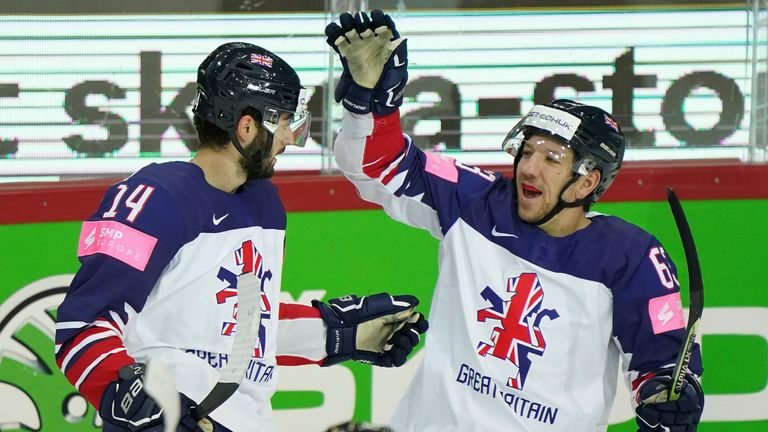 AP - Liam Kirk (left) celebrates with Great Britain team-mate Brendan Connolly