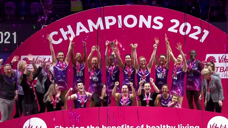 Loughborough Lightning put three previous final defeats behind them to win the title for the first time (Image credit - Morgan Harlow)