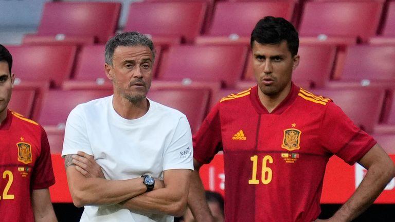 Spain's Luis Enrique has a wealth of midfield options
