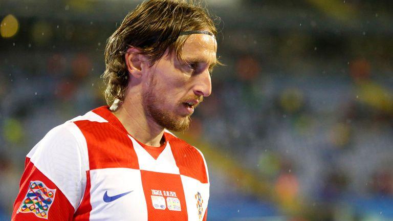 Luka Modric in action for Croatia