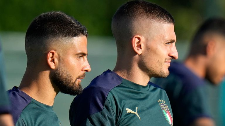 Italy midfielder Marco Verratti (right) could feature against Wales (AP)