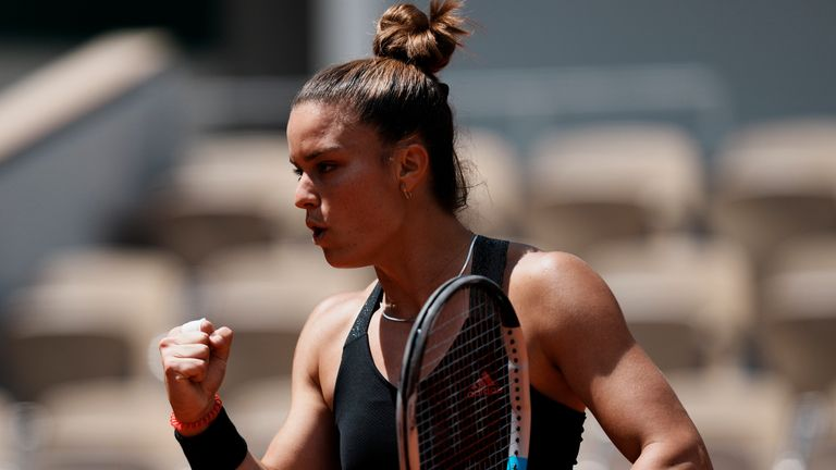 Maria Sakkari is the highest ranked player in the women's table