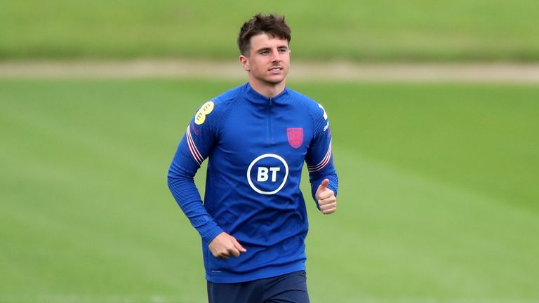 England's Mason Mount is hoping to come out of self-isolation at midnight on Monday