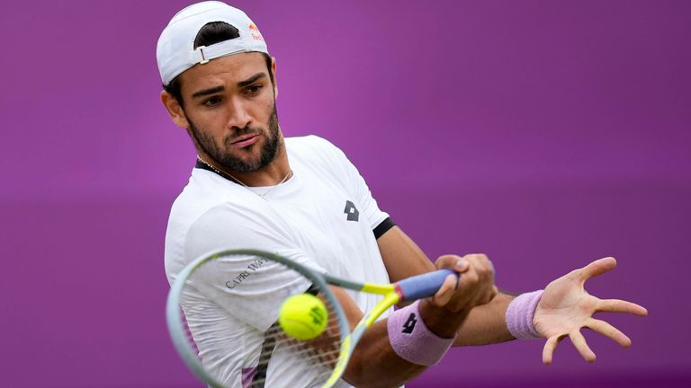 Matteo Berrettini is the fiirst Italian to win the title at Queen's Club