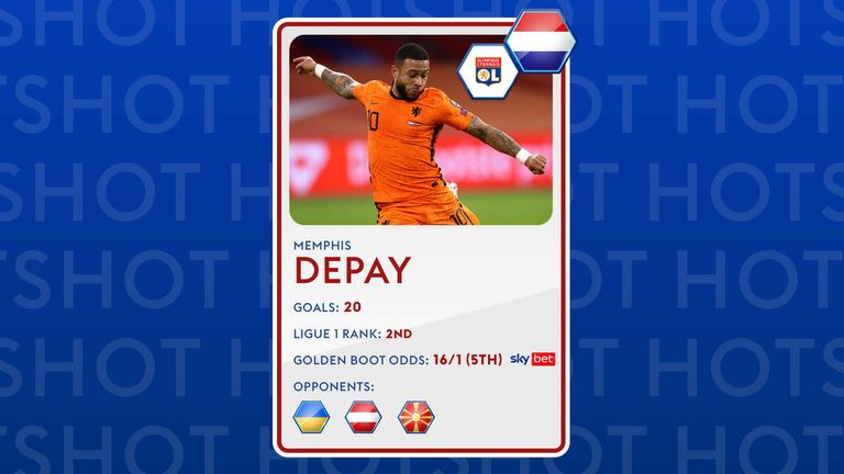 Memphis Depay could be the value pick to land the Euro 2020 Golden Boot award.