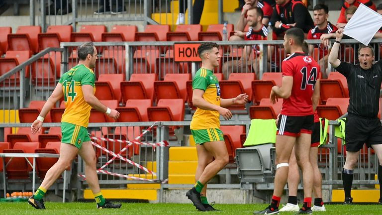 Murphy was forced ashore at half-time
