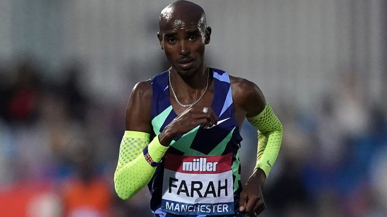 Farah won gold in the 10,000m and 5,000m at the previous two Olympic Games