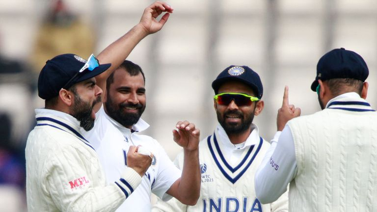 Mohammed Shami took four wickets on day five at The Hampshire Bowl