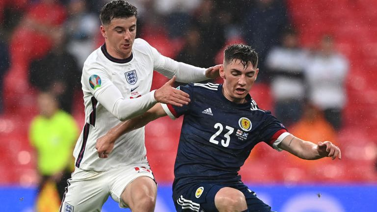 Mason Mount challenges Billy Gilmour