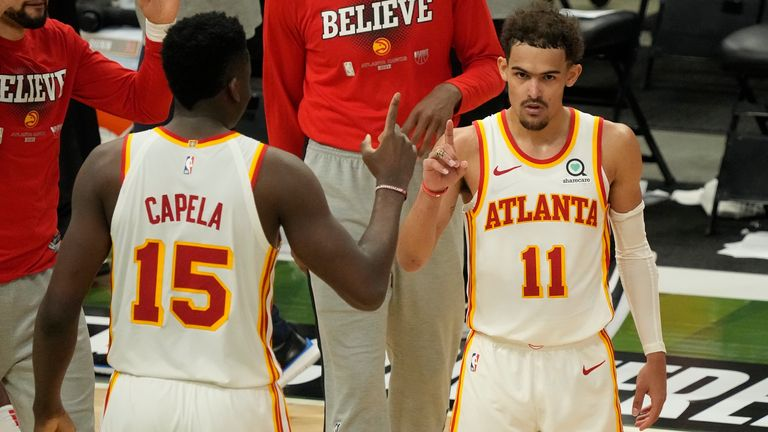 Clint Capela and Trae Young