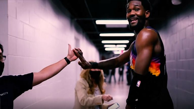 DeAndre Ayton as The Suns win Game 2 with a a wild finish in the Western Conference Finals.