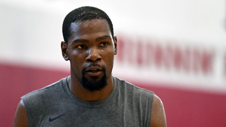 Kevin Durant during the 2018 USA Basketball Men's National Team minicamp