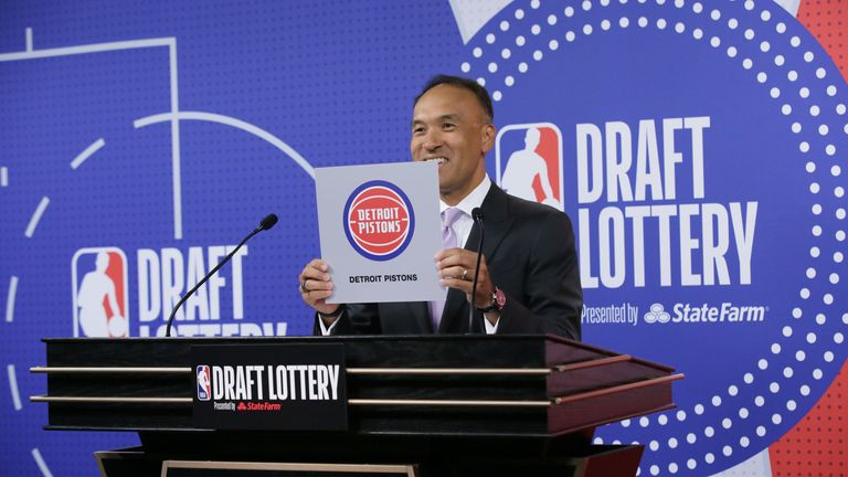 The Detroit Pistons won the NBA Draft Lottery on Tuesday night, granting them the number one overall pick in next month's draft.