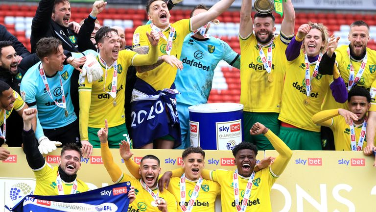 Norwich City romped to the Championship title with no less than six players included in the PFA Team of the Year