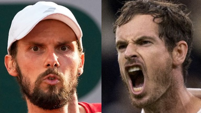 Oscar Otte will take on Andy Murray for a place in the third round at Wimbledon on Wednesday