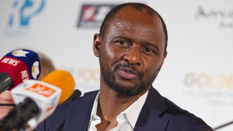Former Arsenal captain Patrick Vieira last managed Ligue 1 club Nice (AP)