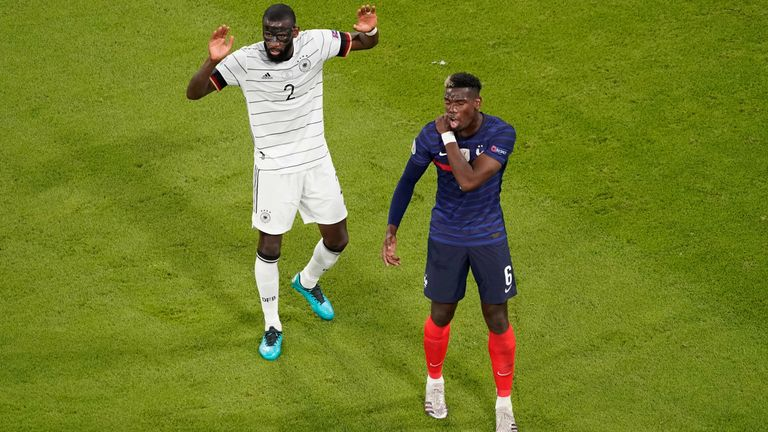 """Paul Pogba has claimed Antonio Rudiger """"nibbled"""" him during France's win over Germany"""