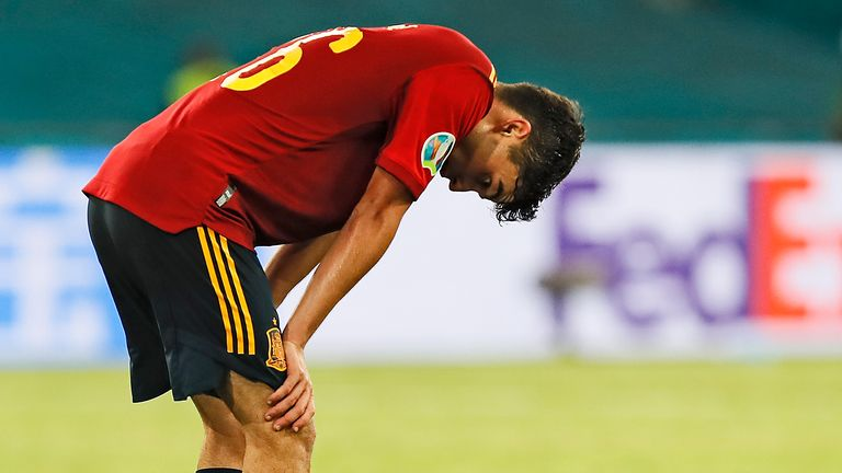 Pedri is left frustrated after Spain's 0-0 draw with Sweden