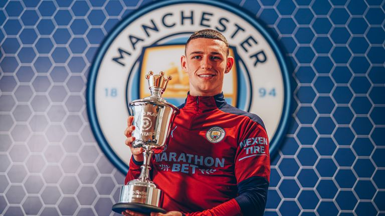 Phil Foden has been named the PFA Young Player of the Year