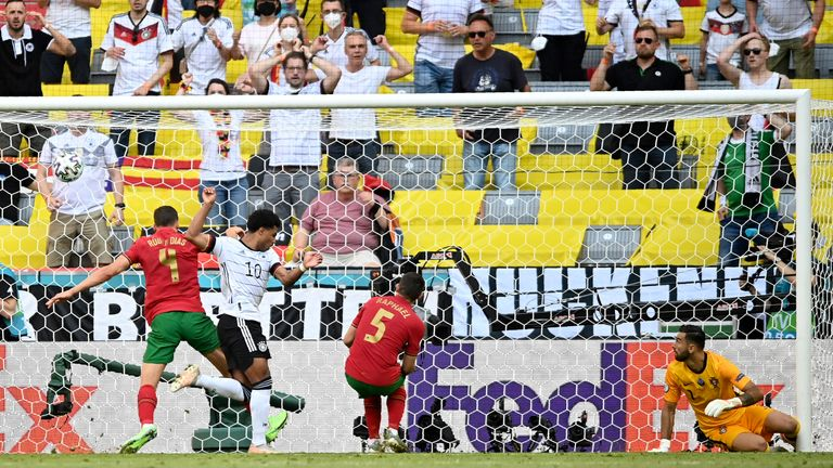 Raphael Guerreiro scores Portugal's second own goal against Germany