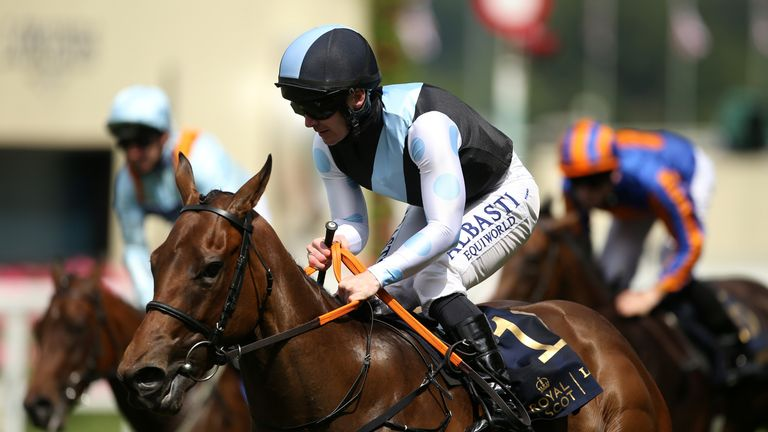 Quick Suzy wins the Queen Mary Stakes at Royal Ascot