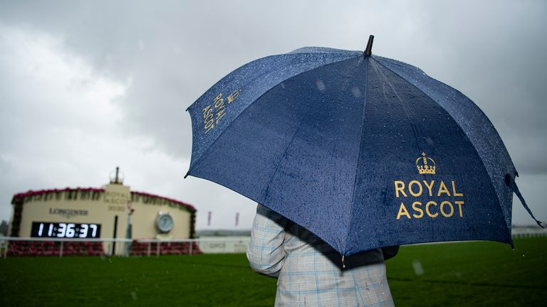 19mm of rain fell overnight at Ascot ahead of racing on Friday