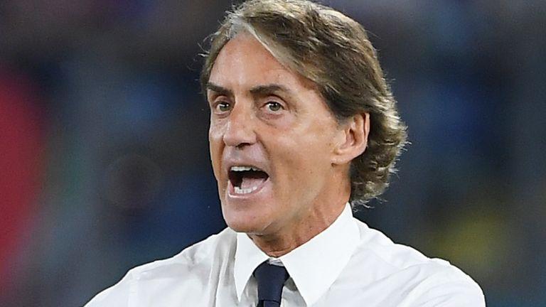 Italy manager Roberto Mancini (AP)