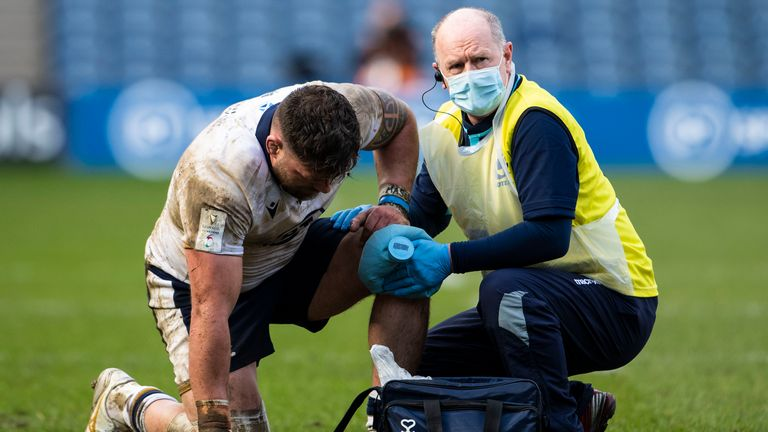Dr Robson worked at his 250th Scotland Test during the 2021 Six Nations