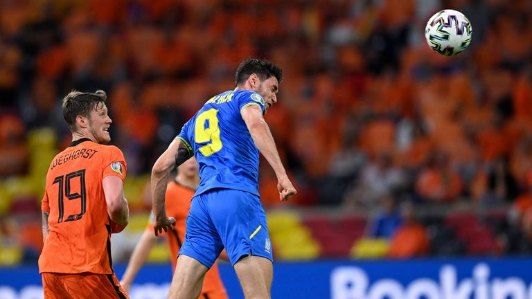 Roman Yaremchuk's header looked to have earned the Ukraine a comeback draw in their Euro 2020 opener